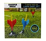 7 Pc Soft Tip Lawn Dart Set by Sharper Image, Carrying Bag Included