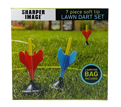 7 Pc Soft Tip Lawn Dart Set by Sharper Image, Carrying Bag Included by Sharper Image (Image #1)