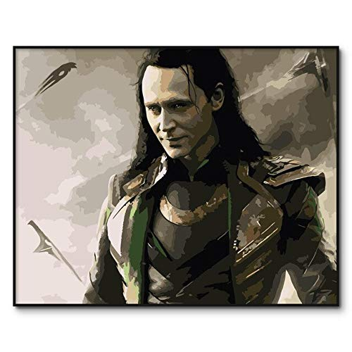 FFYYJJLEI Loki DIY Digital Oil Painting by Numbers Paint by Number Kits Coloring by Number Canvas Hand Painted Modular Picture Wall Decor,40X50Cm DIY - Lokis Kitten