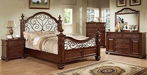 Furniture of America Landaluce Antique Dark Oak Nightstands