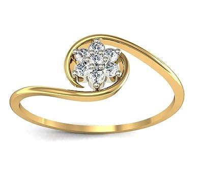 Avsar 14k 585 Yellow Gold Ring Amazon Jewellery
