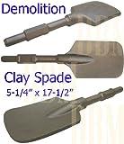 """Demolition Hammer Clay Spade Scoop Shovel Bit Spline Shank Hex Drill 5-1/2"""""""