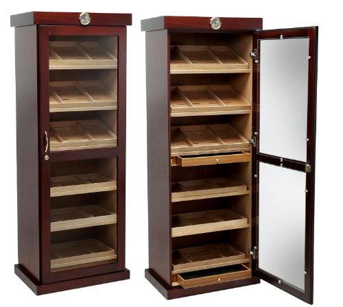Prestige Import Group - The Barbatus Cabinet Humidor - Color: Cherry Finish (Cabinet Humidor)