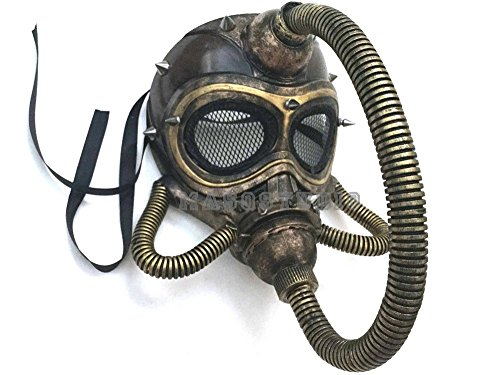 MasqStudio Halloween Costume Cosplay Steampunk Submarine Dress up Party Masquerade Gas Mask with Hose -