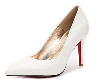 cadcf07d8f95c Amazon.com | Women's Stylish Pointed Toe Special Line On PU Leather ...