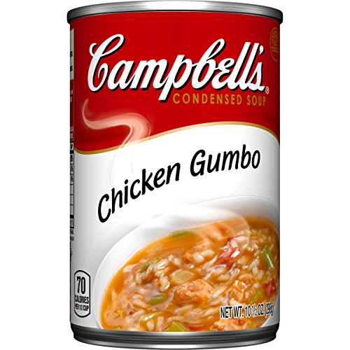 Campbell's Condensed Soup, Chicken Gumbo, 10.5 Ounce (Pack of 12) Gumbo Dinner