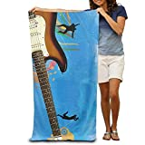 Stylish Shop Enjoy Guitar Country Life Quick-Drying Pool Beach Towel Travel Bath Towel for Adults
