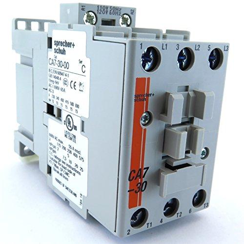 CA7-30-10-120 SPRECHER+SCHUH CONTACTOR 30A 120V AC COIL 1NO AUXILIARY CONTACT