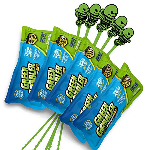 Green Gobbler Drain Opening PAC'S - 8.25 oz 5 Pack & 5 Hair Grabber Tools - Best Drain Cleaner, Opener, and Clog Remover