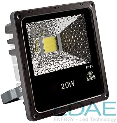 Foco LED Exteriores 20W, Proyector LED 20W, Blanco Frío 5500K ...