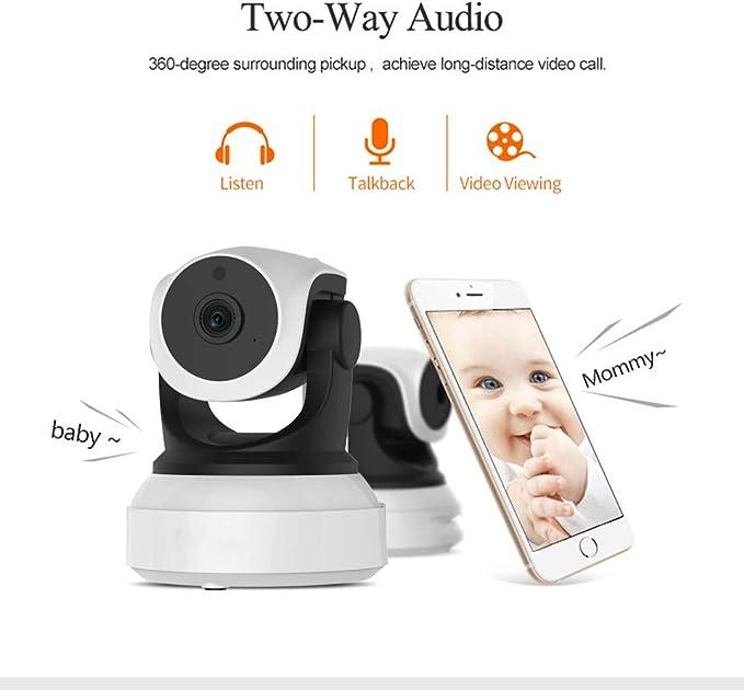 Fhjzlj 7824WIP - Vigilabebés WiFi con 2 Canales de Audio con ...