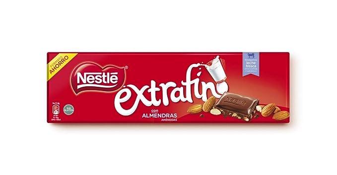 Nestlé Extrafino - Tableta de Chocolate con Leche y Almendras - 300 g