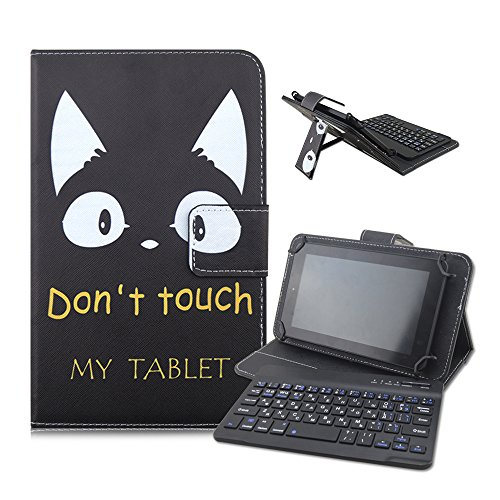 Take Ao 7-8 inch Universal Bluetooth Keyboard PU Leather Case, with 7