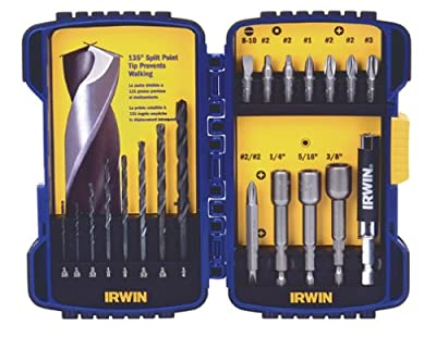Irwin Industrial Tools 357020 Fastener Drive Tool and Drill Bit Set, 20-Piece