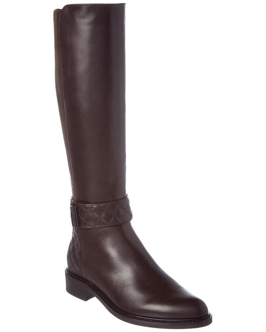 Aquatalia Gabrielle Waterproof Leather Boot, 8, Brown