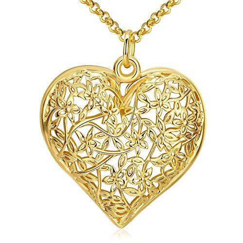 [Classic Hollow Heart Pendant Necklace] (Zora Link Costume)