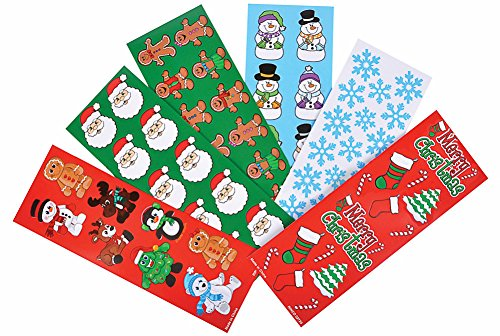 Christmas Holiday Sticker Assortment~Almost 1000 Stickers~Gingerbread Man, Santa, Snowflake, Penguin, Christmas Tree, Candy Cane, Snowman, Christmas Stocking and - Stickers Christmas
