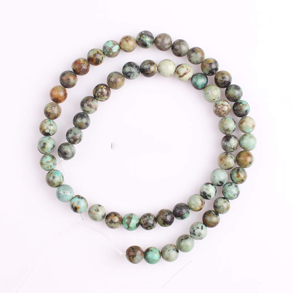 4//6//8//10//12MM Natural African Turquoise Gemstone Round Loose Beads DIY Jewelry