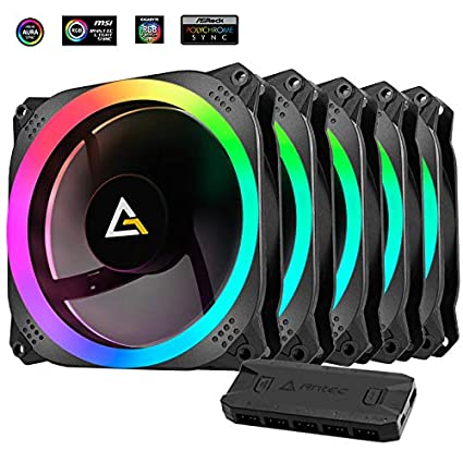 Antec Prizm 120 ARGB 5+C 120mm Case Fan w/Fan Controller (5 in 1 Pack)