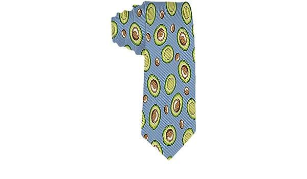 Patrón moderno de hombres Mitades de aguacate verde en corbatas ...