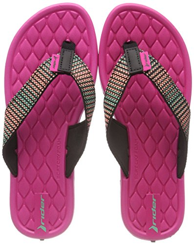 Chanclas Rider Fem V Pink Cloud Black 8341 Multicolor para Mujer TxBxtqw