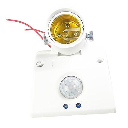SM SunniMix E27 Soporte de bombilla Soporte de infrarrojos Pir Cuerpo Sensor de movimiento 110~