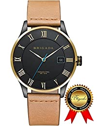 BRIGADA Swiss Watches Cool Business Casual Quartz Watches for men, Great Gift for Someone or Yourself