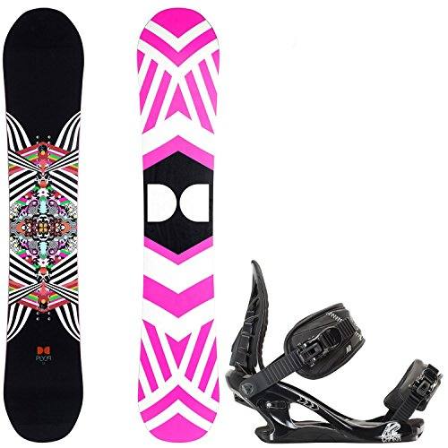 DC Ply 142cm Womens Snowboard + K2 Charm Bindings - Fits US Wms Boots Sizes: 6,7,8,9