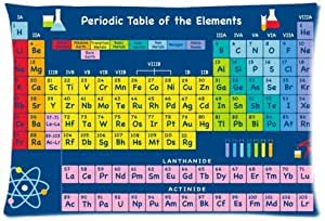 Periodic Table Of Elements Pillowcase Rectangle Pillow Case Cover One Side Size 20x30 Inch Home Kitchen