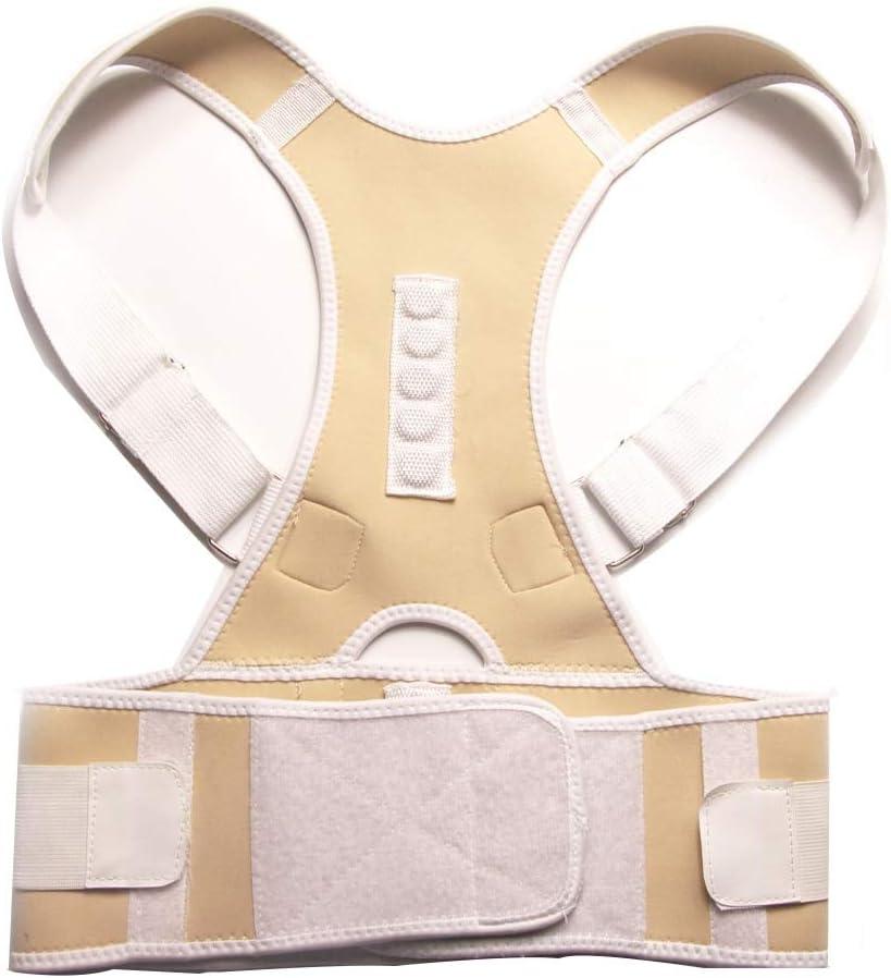 Ortesis de espalda Men's Back Straightener Magnetic Back Posture Corrector Support Belt Shoulder Corrector Waist Support Posture StraightSBlack