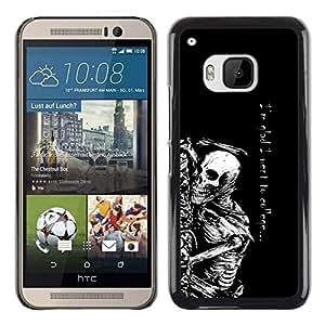 Caucho caso de Shell duro de la cubierta de accesorios de protección BY RAYDREAMMM - HTC One M9 - Fue a la universidad Esqueleto divertido gótico