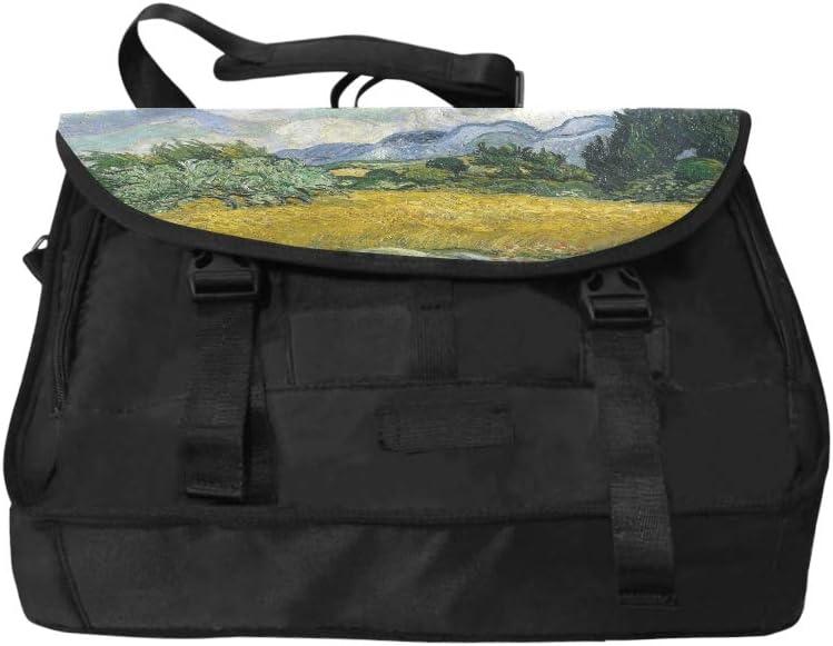 Shoulder Crossbody Bags Van Gogh Art Tree Wheat Field Multi-Functional Women Satchel Handbags Fit for 15 Inch Computer Notebook MacBook