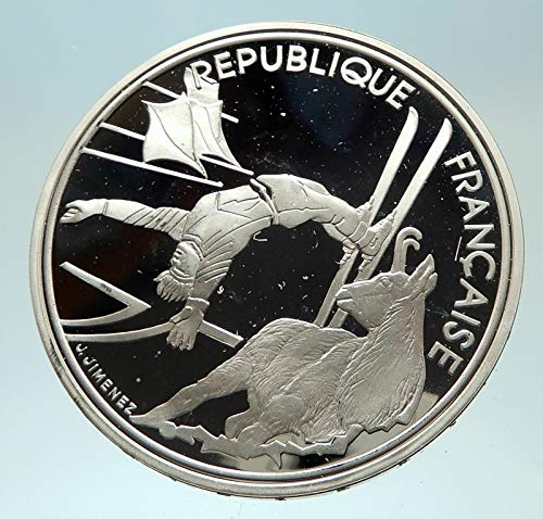1990 FR 1990 FRANCE Free style Skiing 1992 Olympics Proof coin Good Uncertified