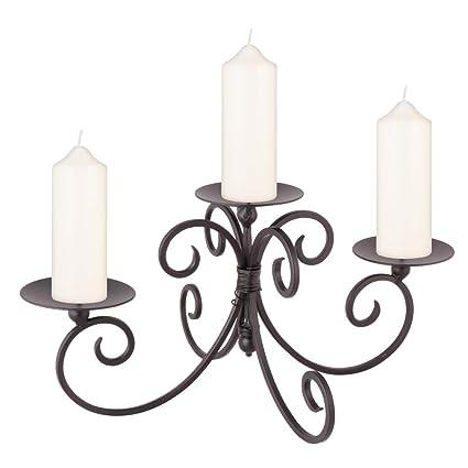 758bc699a8 Three Pillar Iron Candle Display Holder: Amazon.co.uk: Kitchen & Home