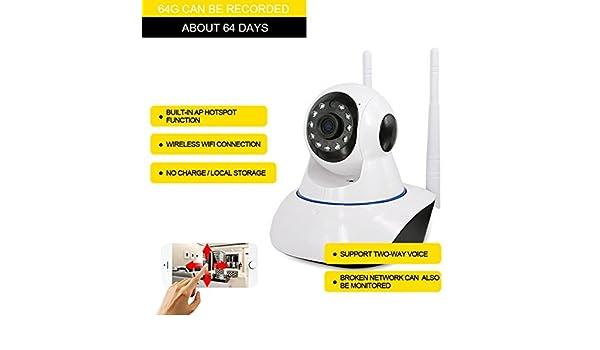 Cámara de vigilancia IP, visión remota video de vigilancia en casa, soporte para IOS y Android inalámbrica cámara de vigilancia WiFi: Amazon.es: Electrónica