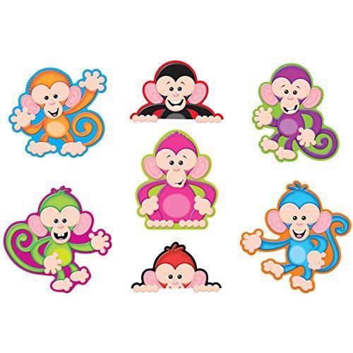TREND enterprises, Inc. T-10974BN Color Monkeys Classic Accents Variety Pack, 36 Per Pack, 6 Packs ()