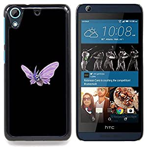 "Qstar Arte & diseño plástico duro Fundas Cover Cubre Hard Case Cover para HTC Desire 626 (Meter Monstruo púrpura de la mariposa"")"
