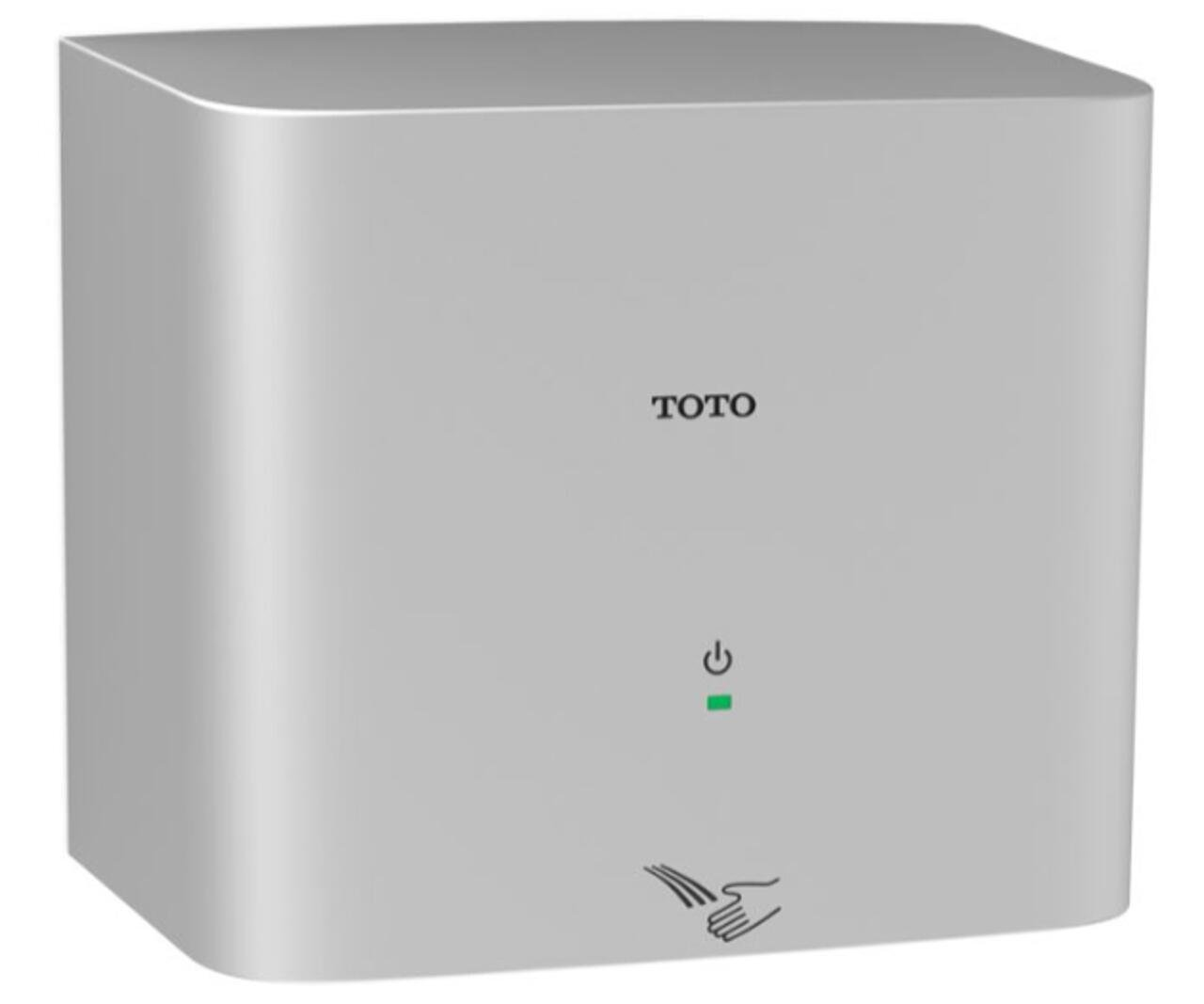 Toto HDR130#SV Clean Dry Hand Dryer, 390-watt by TOTO