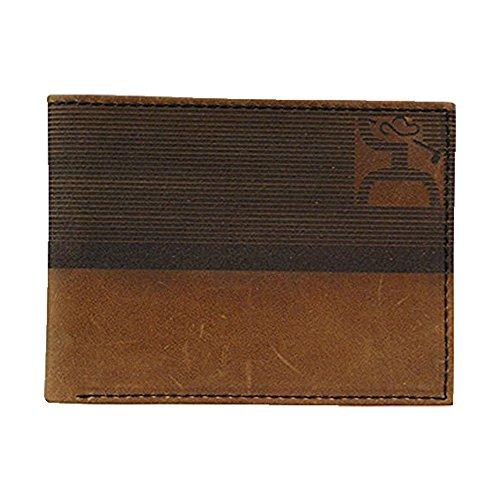 Bi Fold Striped Wallet (Hooey Brown Striped Golf Bifold Wallet (1706161W1))