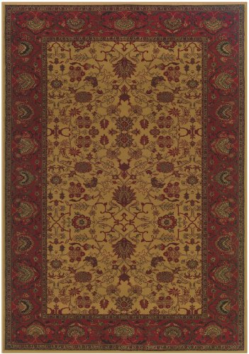 Rug Octagon Harvest Gold (Couristan Traditional Octagon Area Rug 5'3