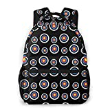 School Daypack Backpack, Big Capacity Daypack for Camping Outdoors Walking Cycling, Archery Target Colorado Circular Travel and Sport Backpack Rucksack for Men Women Girls Boys