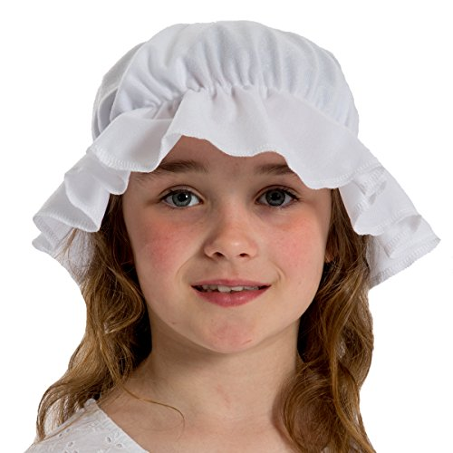 Charlie Crow White Mob Cap/Mop Hat Costume