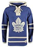Old Time Hockey NHL Toronto Maple Leafs Men's Lacer Heavyweight Hoodie, Small, Dark Royal