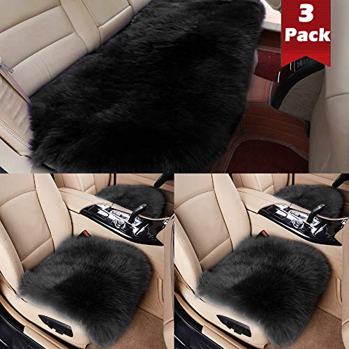 fluffy black car seat covers - 9
