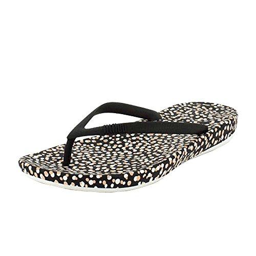 a47f8949fc66a FitFlop Women s iQushion Ergonomic Flip Flops Black Bubbles Sandal - 7 -  Buy Online in UAE.