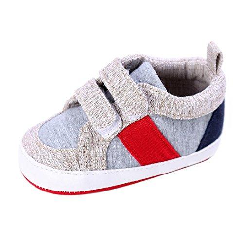 Toddler Casual Shoes,Kimanli Baby Shoes Boy Girl Newborn Crib Soft Sole Sneakers (0~6 months, Gray)