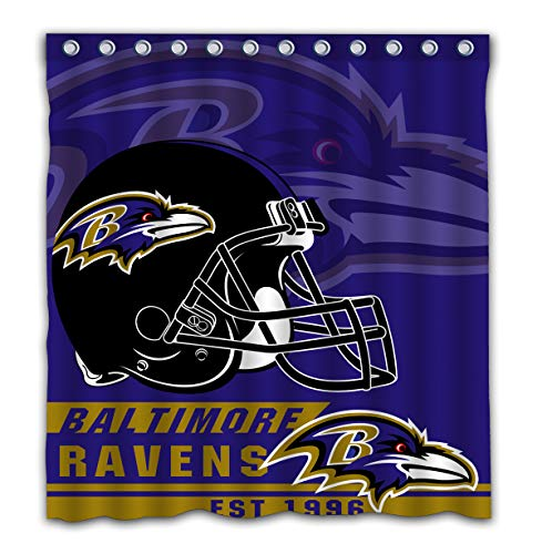 - Felikey Custom Baltimore Ravens Waterproof Shower Curtain with Color Bathroom Decoration Size of 66x72 Inches