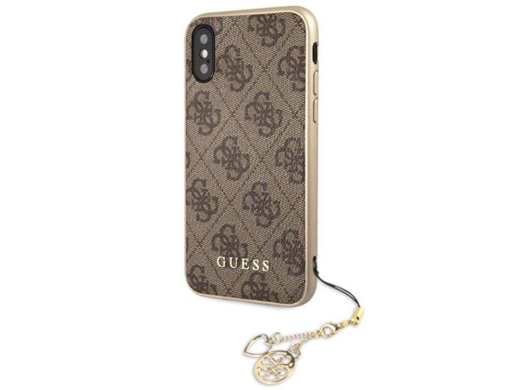 Guess Original Charms Hard Case for iPhone X Brown