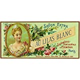 Au Lilas Blanc Soap Label (9x12 Art Print, Wall Decor Travel Poster)