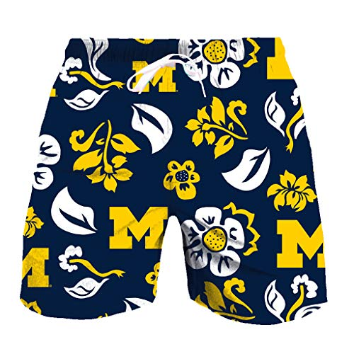 - Wes and Willy NCAA Mens Floral Swim Shorts (XX-Large, Michigan Wolverines)